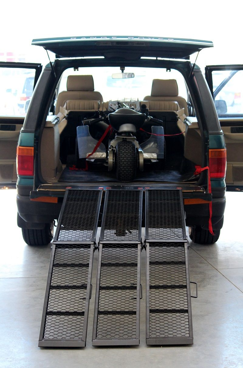 Getting the Fourstar golf cruiser trike into your car is easy. It's easy to  roll