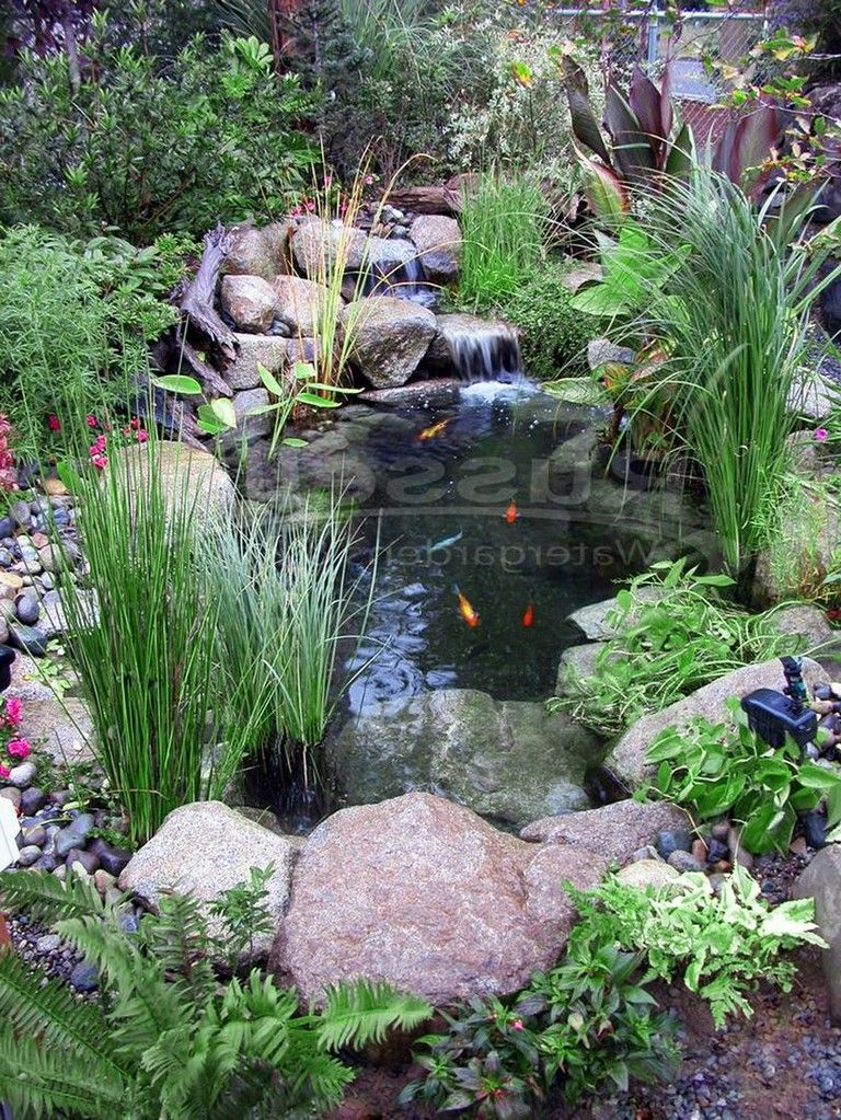 77 Awesome Small Waterfall Pond Landscaping Ideas Pond