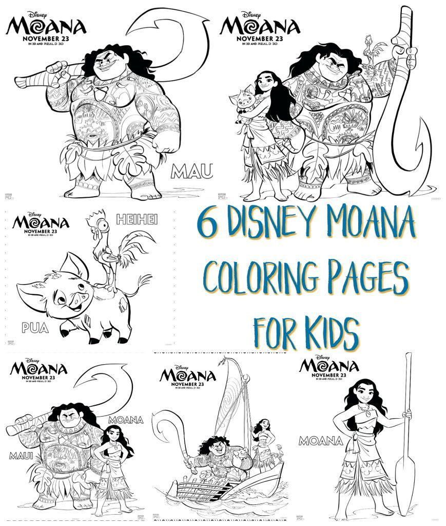 Disney Moana Coloring Pages For Kids
