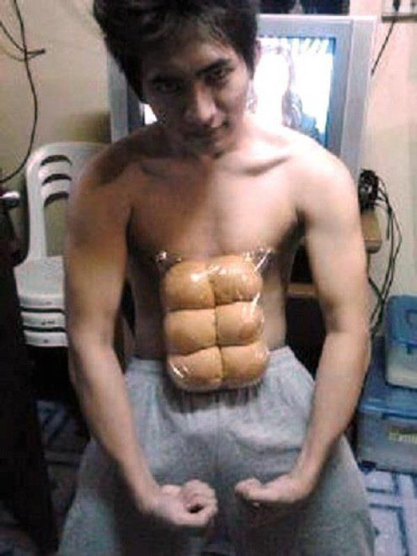 Can You Get Abs From Laughing A Lot Haha This Guy Definitely Has Spent A Lot Of Time In The Gym Xd Abs Laugh Funny Photos