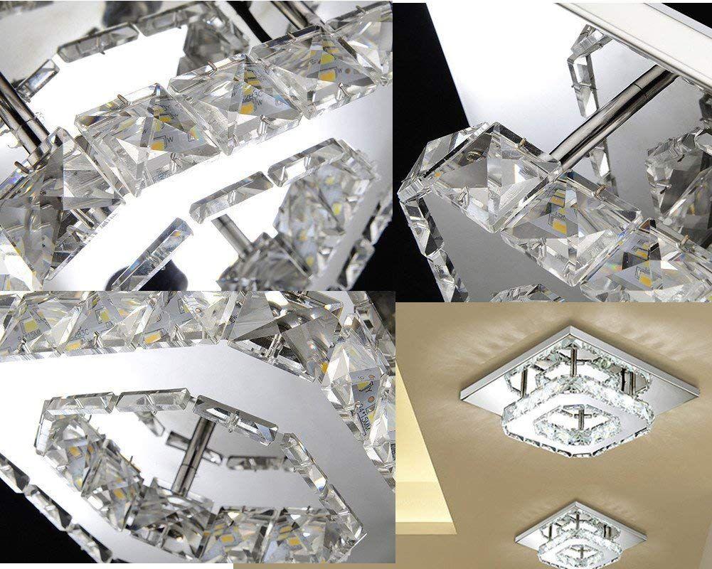 Kronleuchter Flur Modern ~ Etime deckenleuchte kristall mit fernbedienung modern deckenlampe