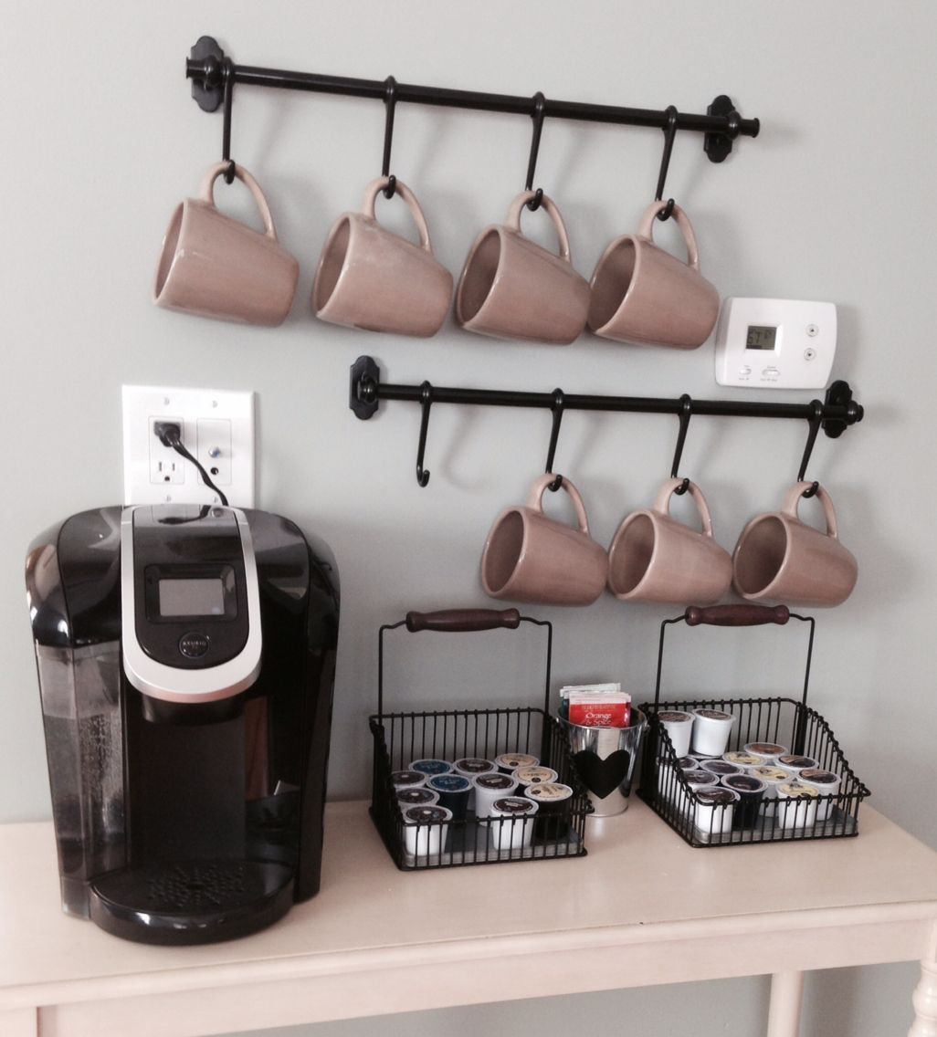 My Rendition Of A Coffee Station Using The Ikea Fintorp Rails Perfect To Put In A Dining Living Room Especially When Y Yazlik Ev Dekorasyonu Ev Dekoru Ev Icin [ 1136 x 1026 Pixel ]
