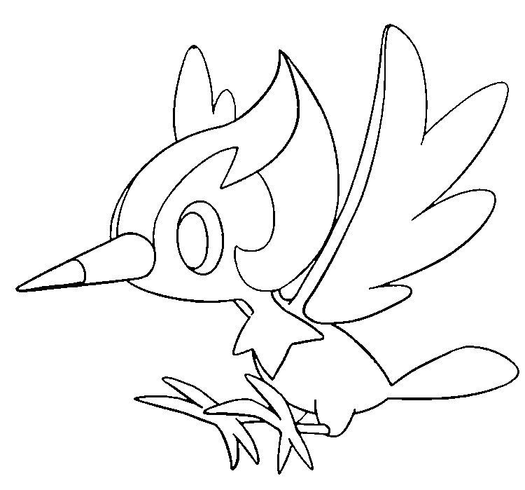 Pikipek Pokemon Coloring Pages