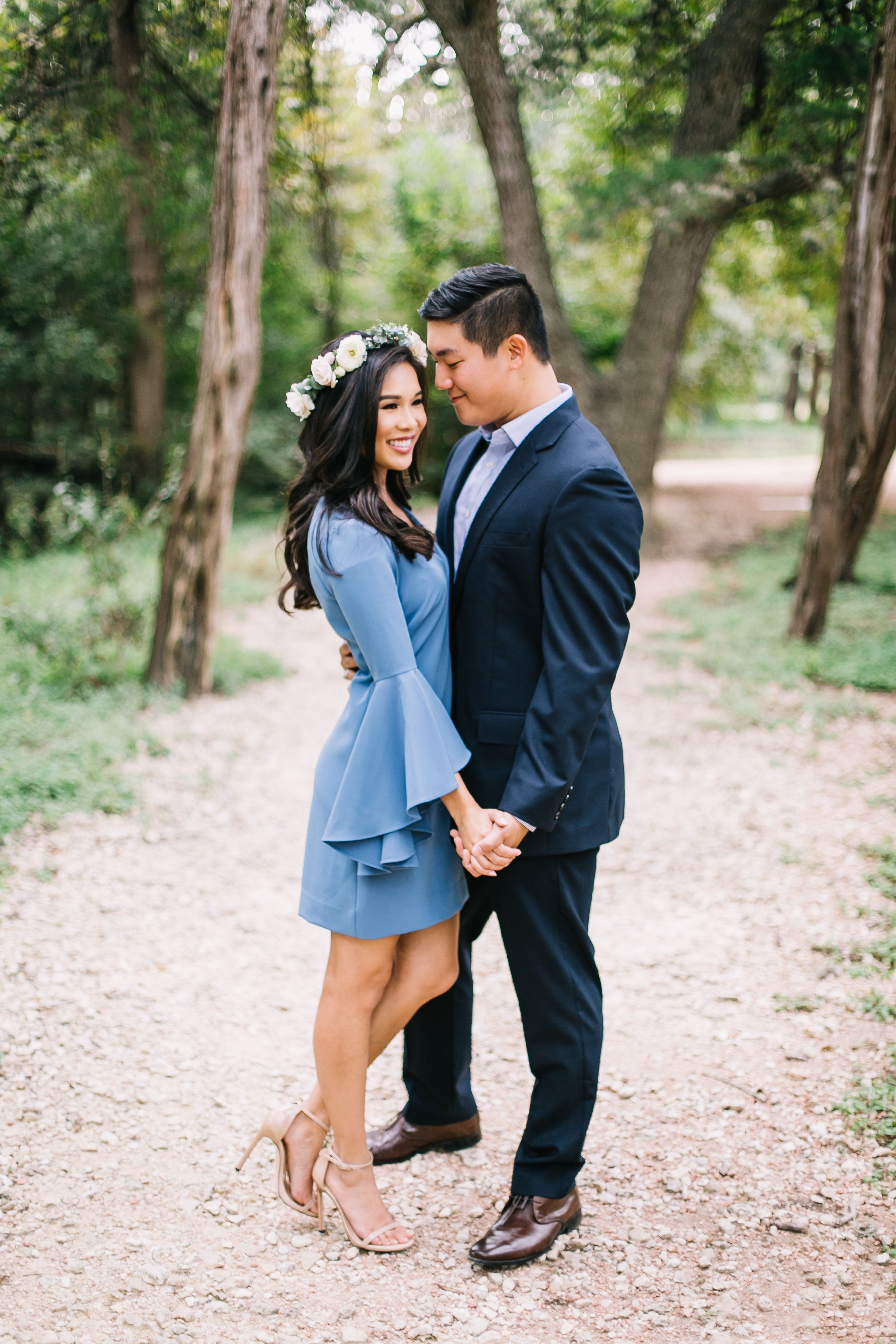 Pin By Color Chic On My Walk Down The Aisle Bell Sleeve Dress Dresses With Sleeves Engagement Photoshoot