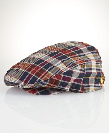778ecf517 Polo Ralph Lauren Hat, Madras Estate Driving Cap Web ID: 780713 ...