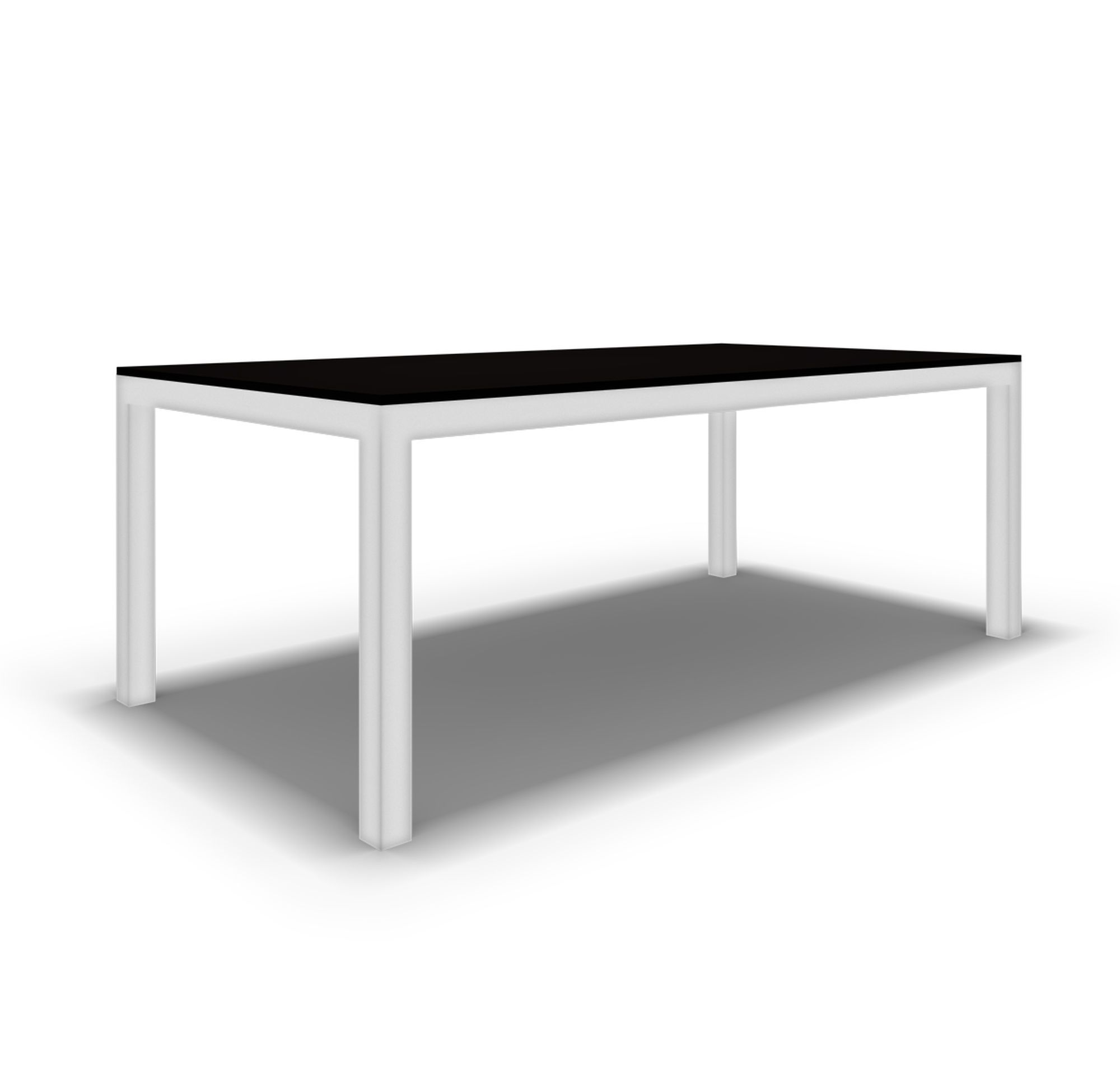 Classic Parsons Dining Table Powder White Hi Res Dining Table