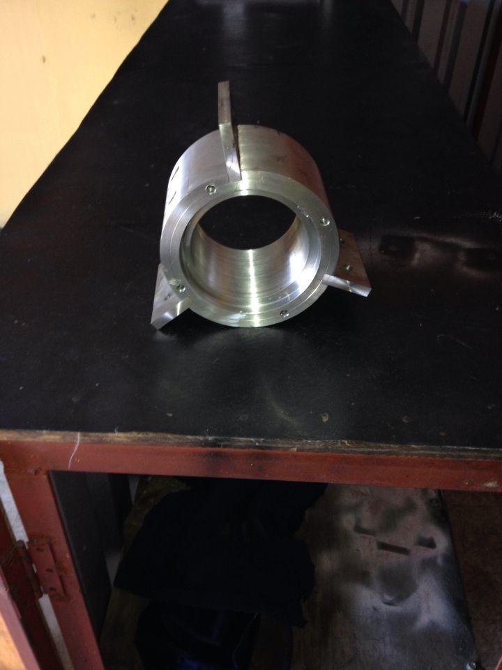 Pieza mecanizada de inoxidable para buje de teflon