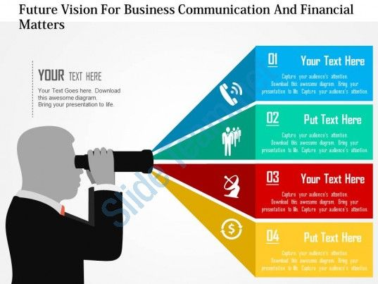 Future vision for business communication and financial matters flat future vision for business communication and financial matters flat powerpoint design accmission