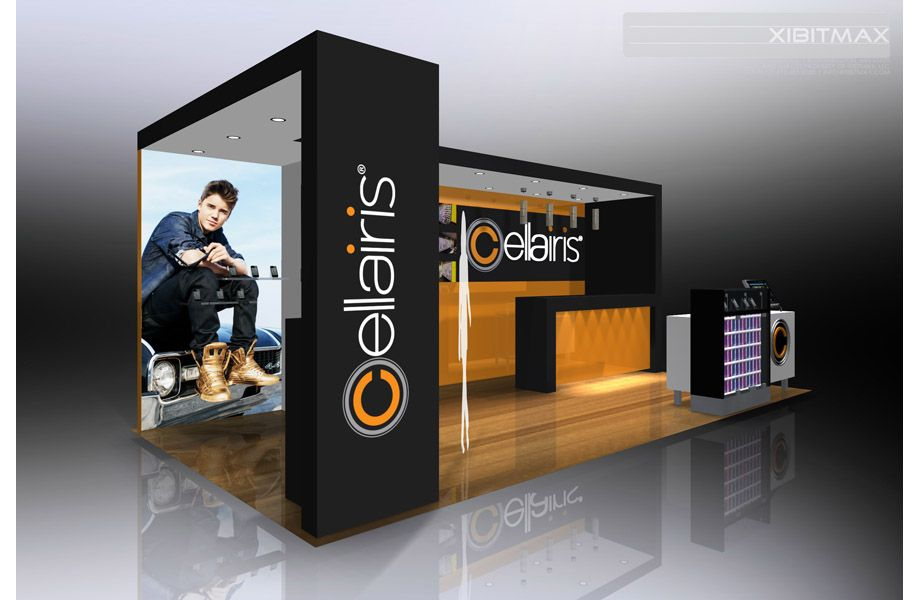 Exhibition Display Stands : Cellairis custom trade show booth