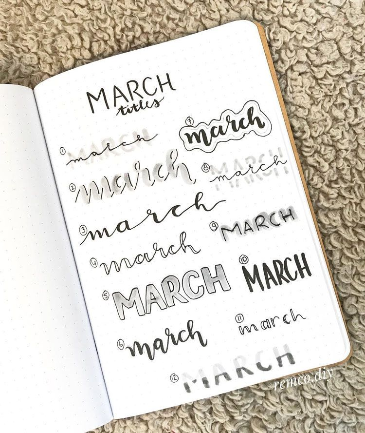 32+ Stunning Bullet Journal Header and Title Ideas - Beautiful Dawn Designs