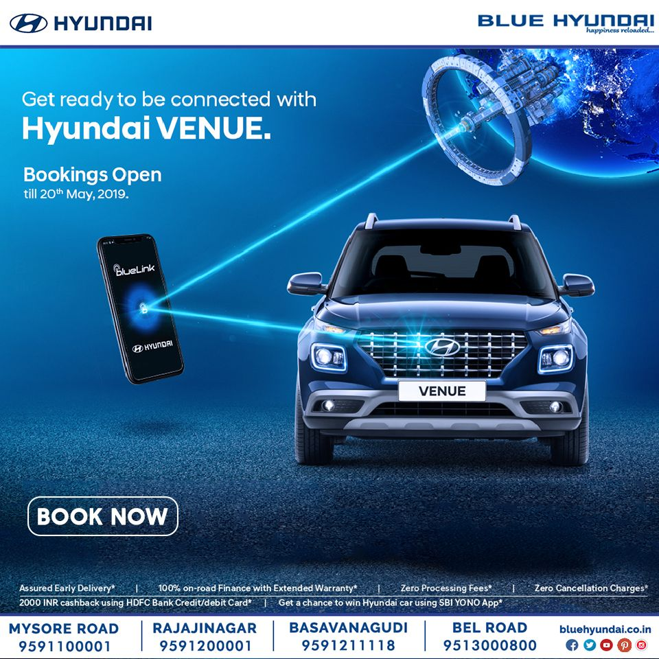 Hyundai Extended Warranty >> Get Ready To Be Connected With Hyundai Venue India S First