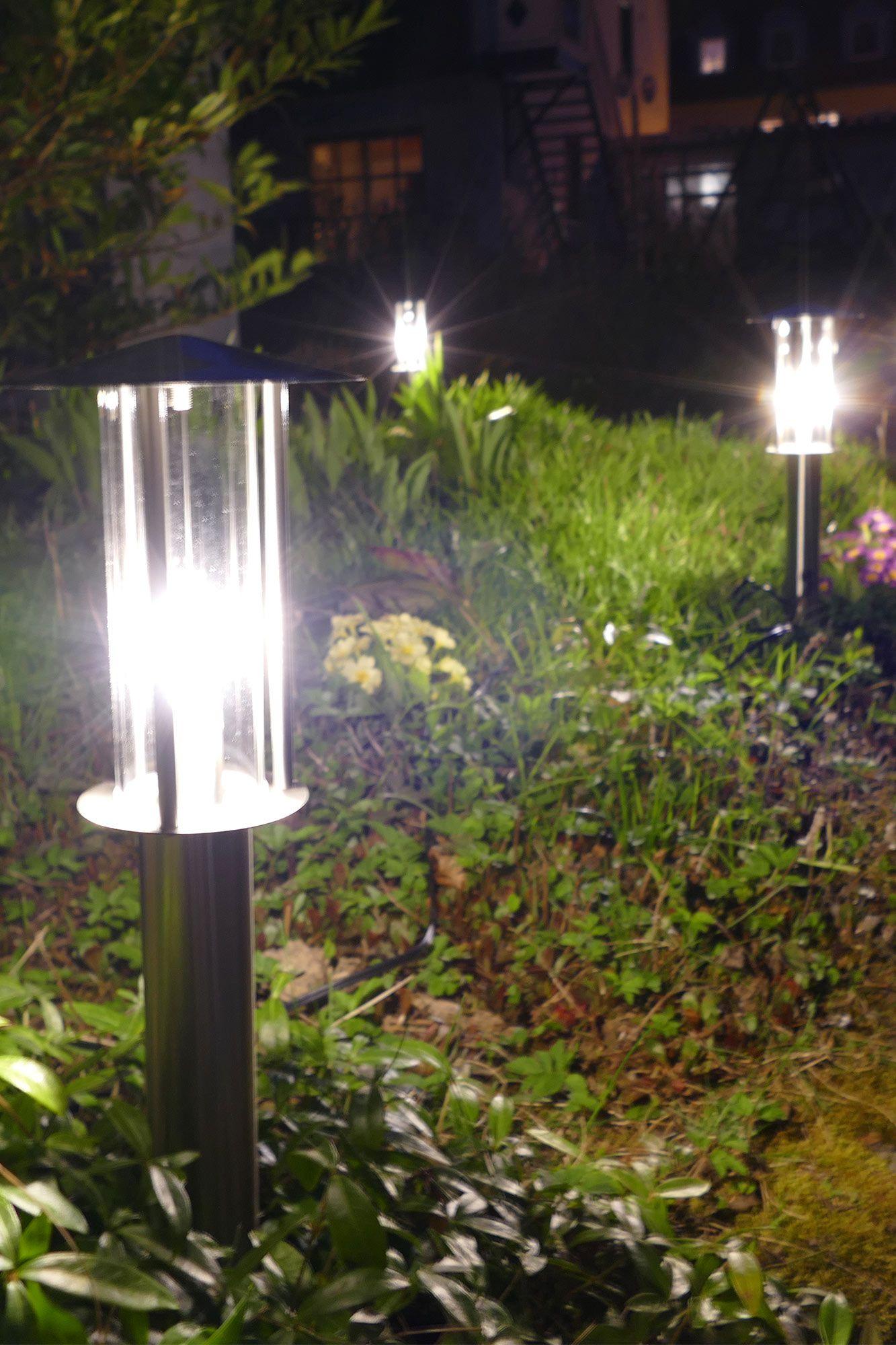 4 Stuck Edelstahl Wegeleuchten Mit Erdspiess Gartenbeleuchtung Garten Kaufen Led Lampen Garten