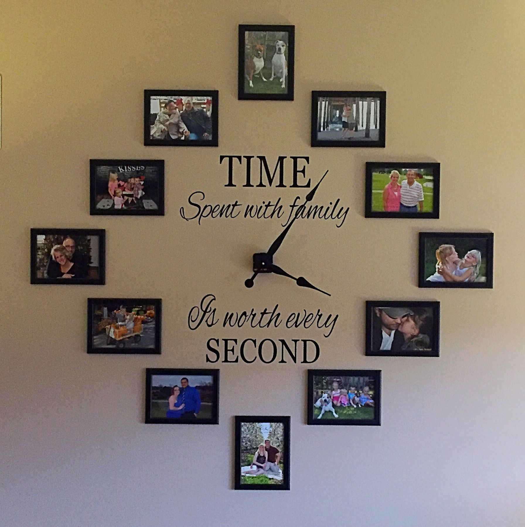Memories Wall Clock Measuring For Proper Picture Placement Was