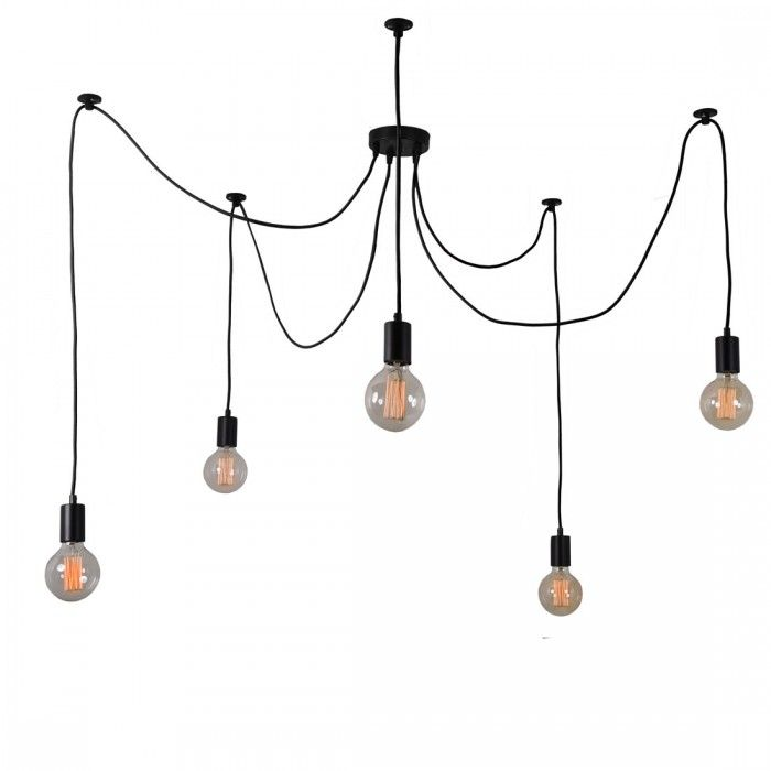 Lampada Globes 5 Black by Filament