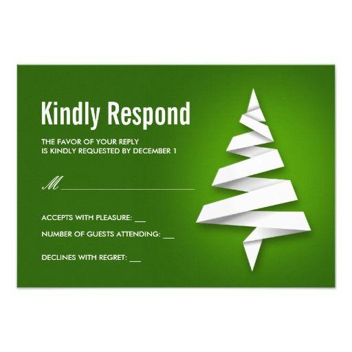 JulfestOSAmallar med julgranen 8,9 X 12,7 Cm Inbjudningskort