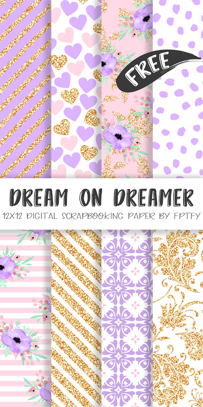 656aa0cc19d1d Free Digital Paper-Dream on Dream Lavender Collection | Best Free ...