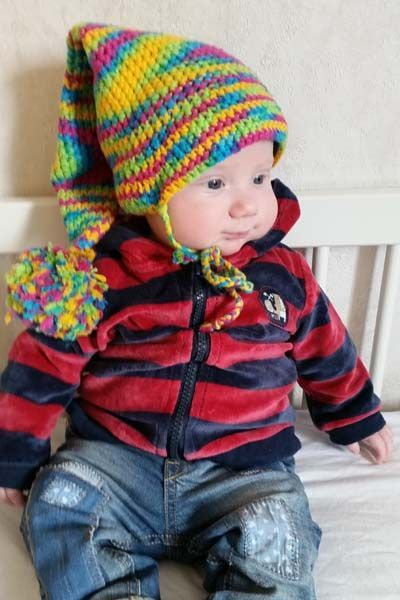 Kostenlose Häkelanleitung für eine Babymütze als Zipfelmütze ...
