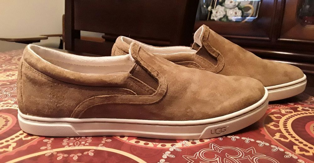 e82dbae2978 UGG Australia 'Fierce' Chestnut Suede Slip On Sneakers S/N 1006737 ...