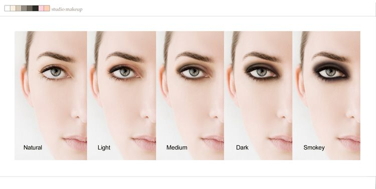 Sue Bryce Make Up Chart For Eye Makeup