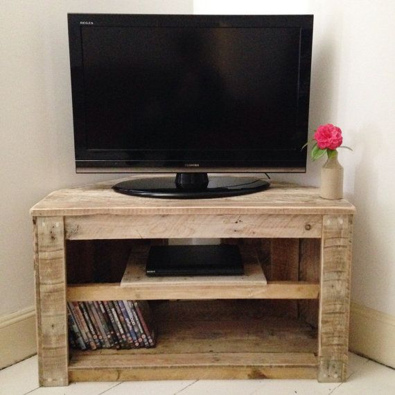Handmade rustic corner table tv stand with by - Corner tables for living room online ...