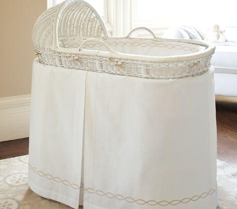 Bordered Pique Bassinet Bedding Bassinet Bed Bassinet Baby