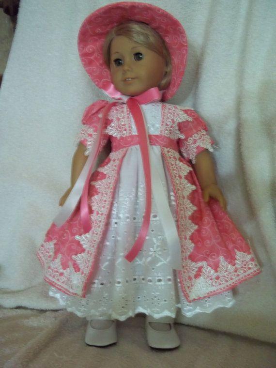 Beautifull Regency style dress w/bonnet   by Lillianloy, $58.00
