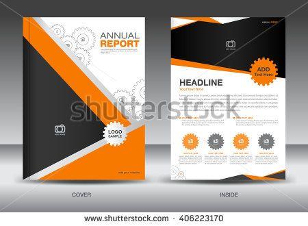 Orange Annual report template,cover template,brochure fl yer,info