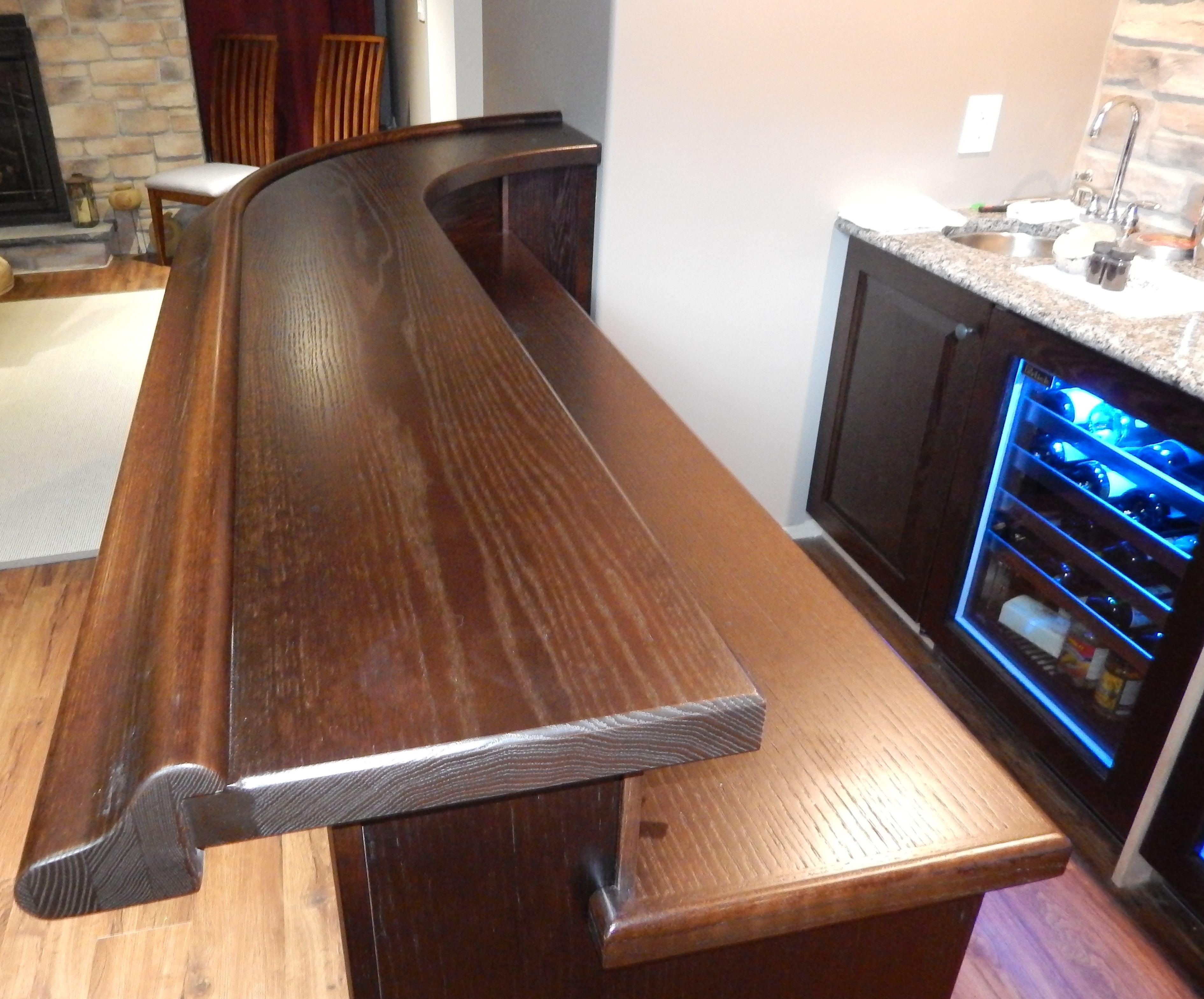 Solid Oak Bar Top And Counter Top Bars For Home Basement Bar Solid Oak