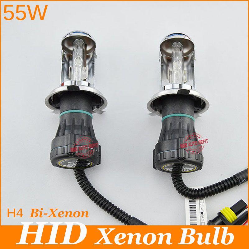 Hid Bi Xenon H4 6000k 8000k H4h L 12v Ac 55w H4 Replacement Bubls Headlight Lamp 3000k 4300k 5000k Car Headlights Replacement Headlights Car Headlight Bulbs