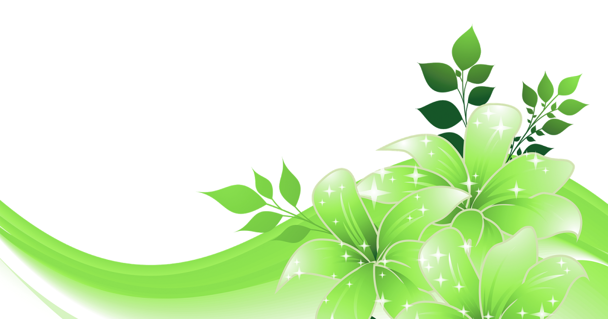 Green Decoration With Flowers Png Transparent Clipart 1 Flower Frame Colorful Frames Marriage Frame