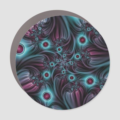 Into the Depth Blue Pink Abstract Fractal Art Car Magnet  diy home decor on a budget, frontroom decor ideas, minalmist decor #homedecor #homedecors #homedecorator