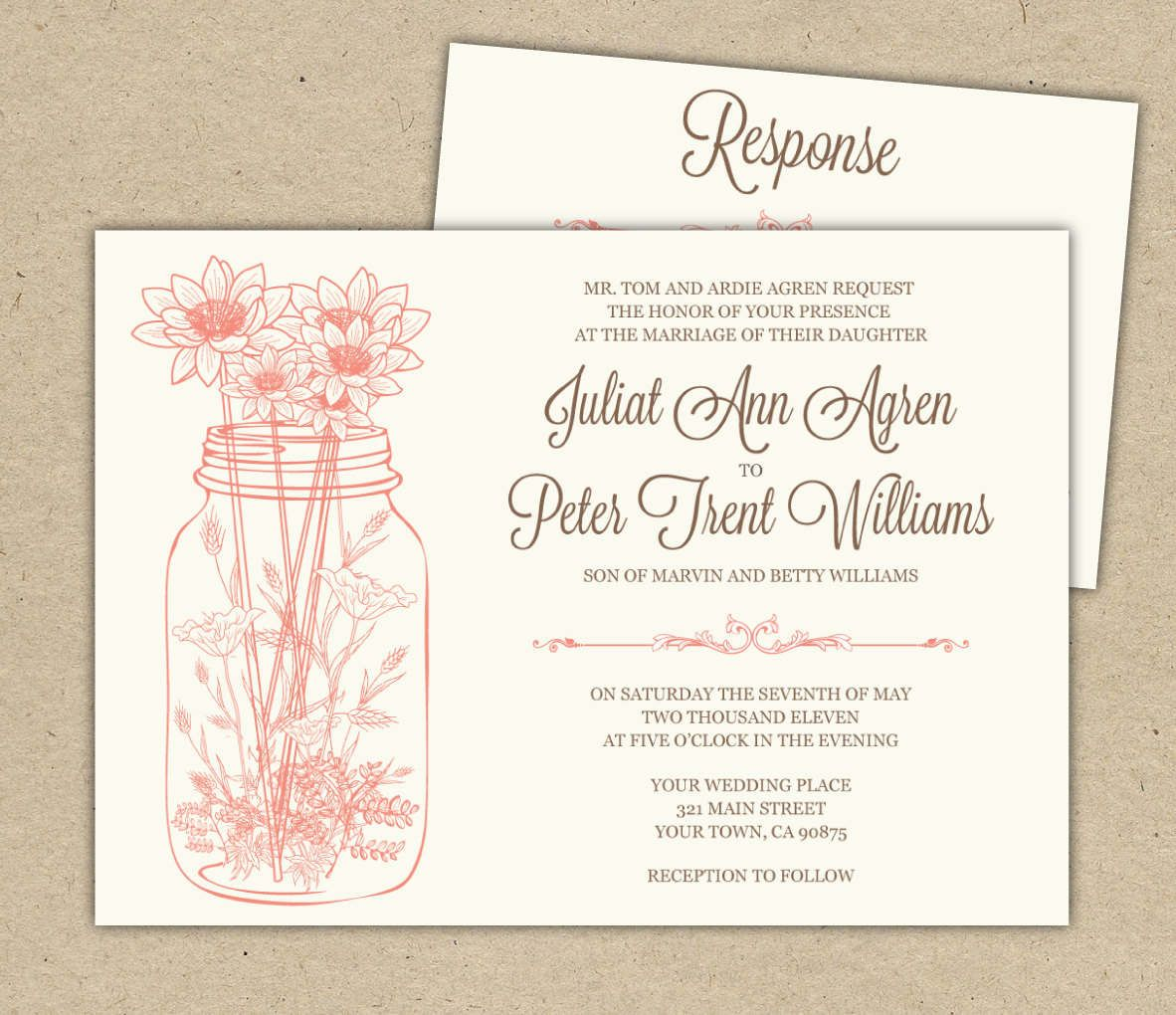 Free Printable Bridal Shower Invitations Wedding Invitations