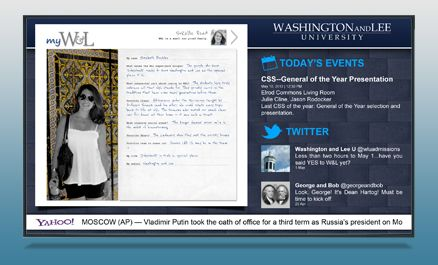 Washington and Lee University | Digital Signage Content | Rise Display