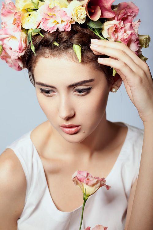 Eustoma #flower Diadem Series, 2013, ph: Kirill Kazakov, model: Irina Pritulyak, mua: Natali Murashko, hair: Julia Artyomenko, #beauty, #makeup