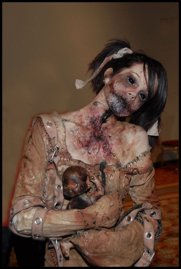 Baby Doll Halloween Pinterest I love, Awesome and Creepy baby - scary halloween costume ideas 2016