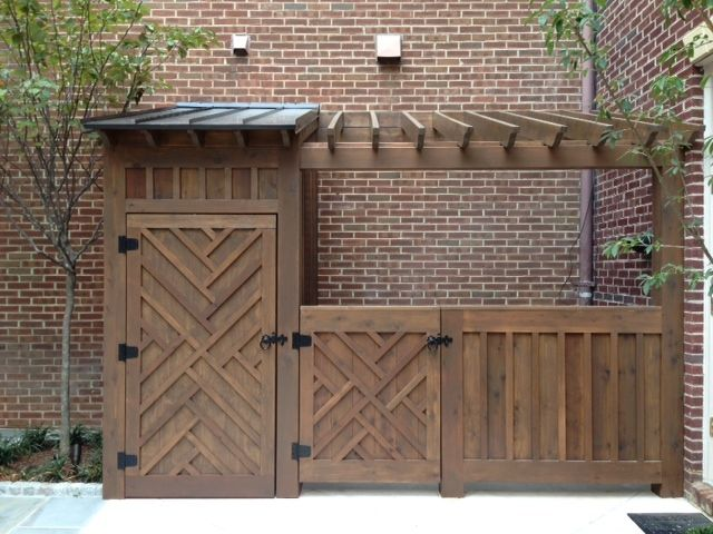 This Alexandria Homeowner Asked For An Elegant Way To House Trash Cans And  An Unsightly AC · Tool ShedsOutdoor StorageHide ...