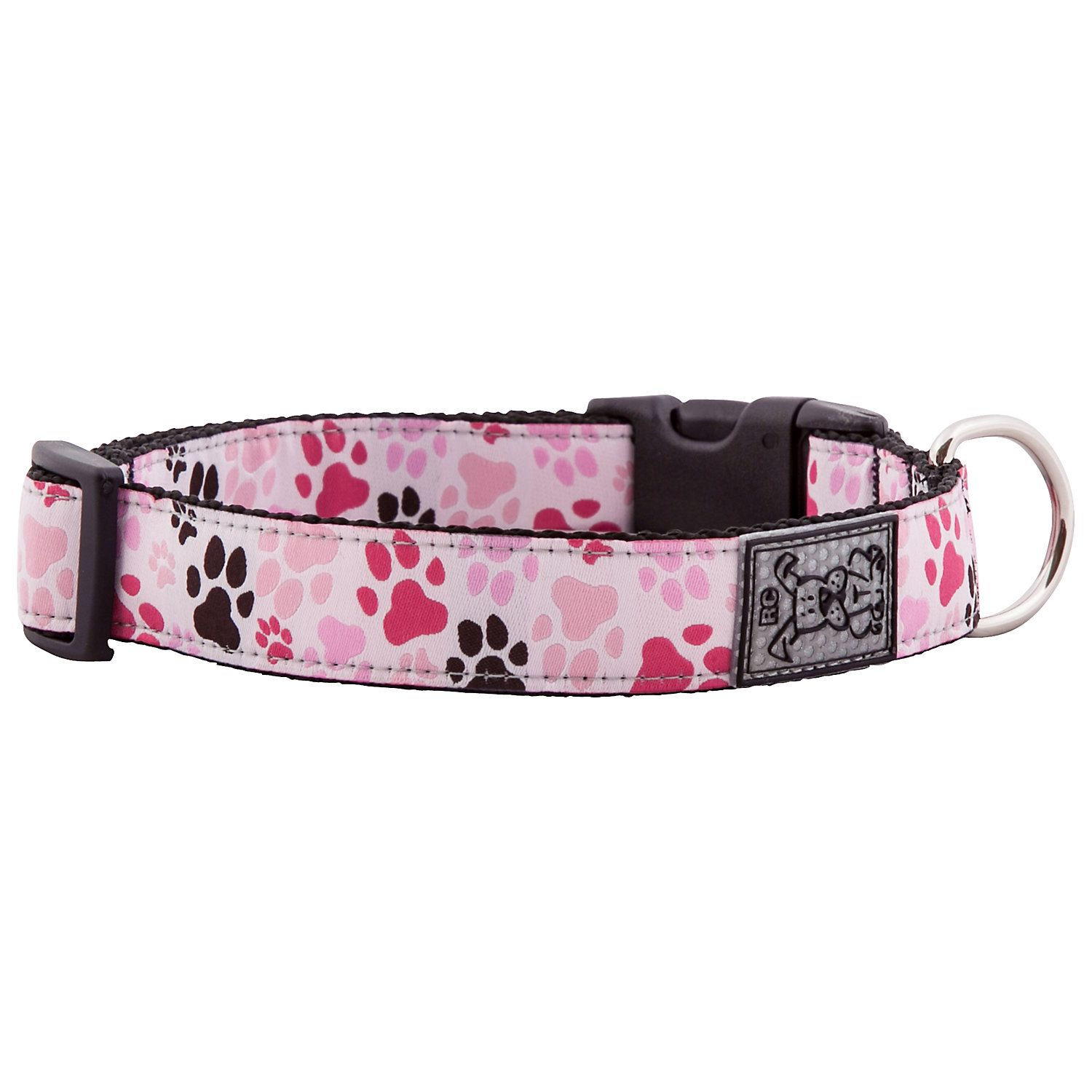 "RC Pet Products Pitter Patter Pink Dog Collar, 15""25"