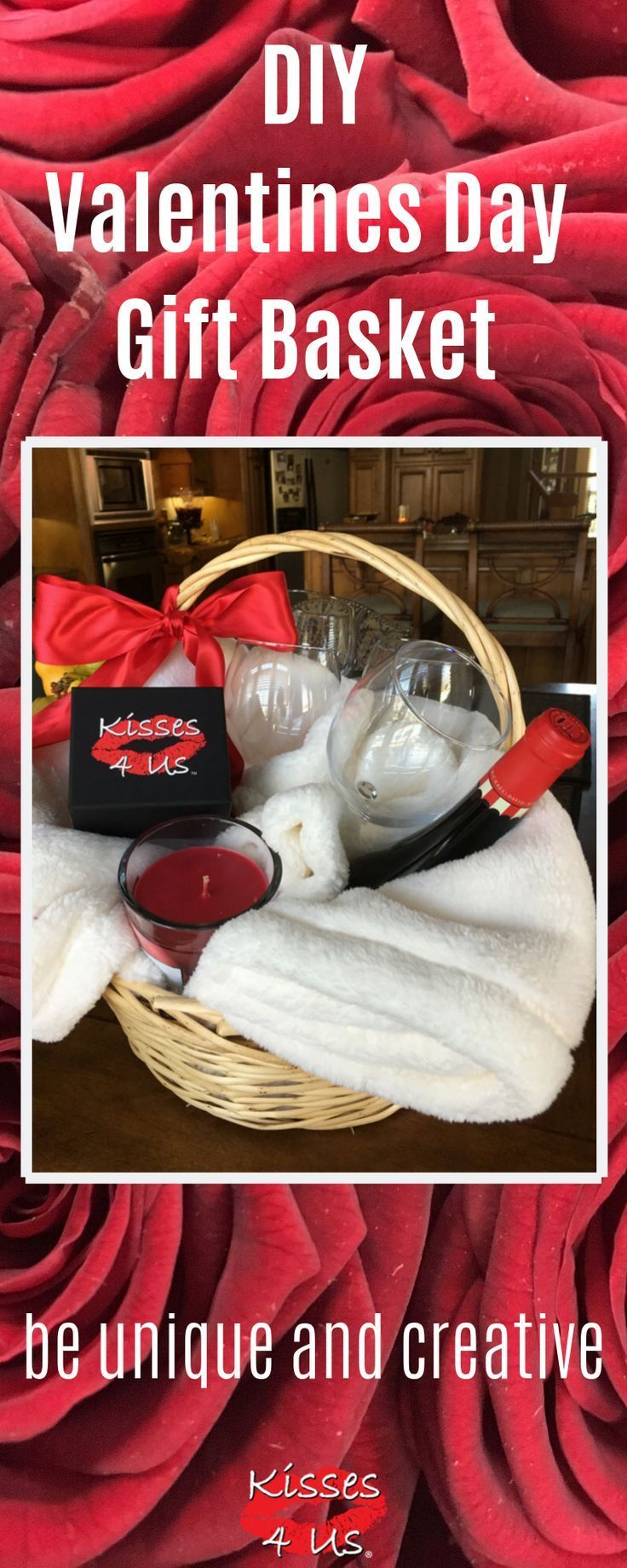 Diy romantic gift basket valentines day gift baskets