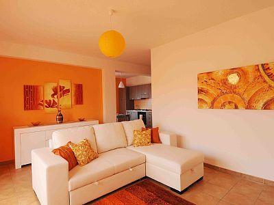 soggiorno parete arancione  Cerca con Google  Home