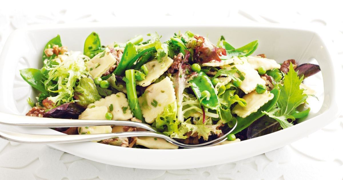 This clever take on pasta salad makes a lovely light lunch or dinner.