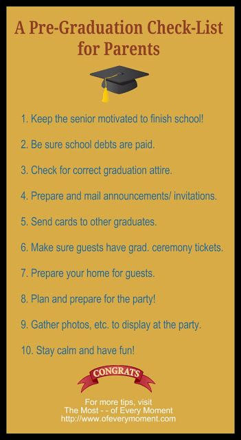 a list of 10 things to do before graduation day