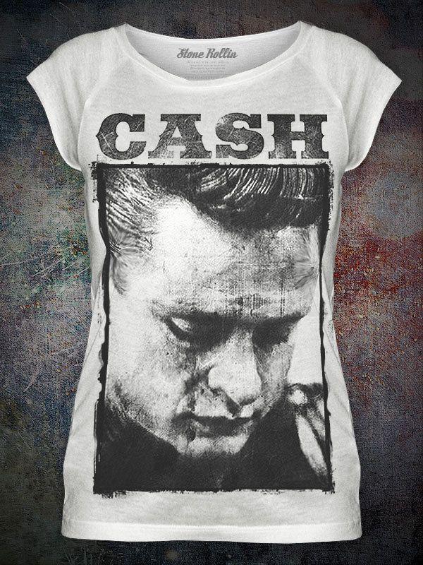 29d702533 Womens 'JOHNNY CASH' Raglan T-Shirt - Rockabilly Retro   eBay ...