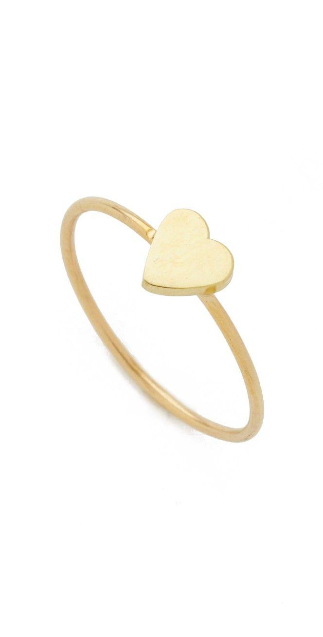 85e34a30f1e593 18k Gold Mini Heart Ring   Silversmithing   Rings, Gold y Mini heart