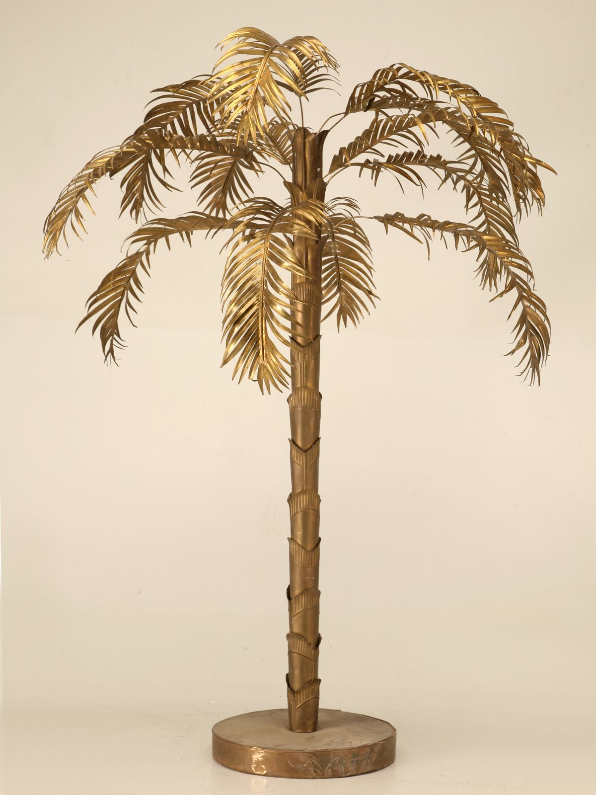 Vintage French Decorative Brass Palm Tree Palm Tree Decorations Antique Furniture For Sale Gold Decor