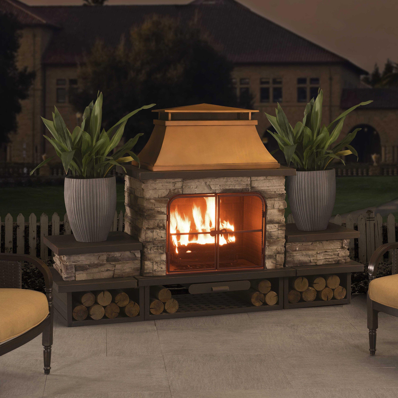 Canora Grey Quillen Steel Wood Burning Outdoor Fireplace ... on Quillen Steel Wood Burning Outdoor Fireplace id=34471