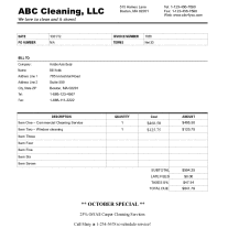 How to create a cleaning invoice for your business show you step ...