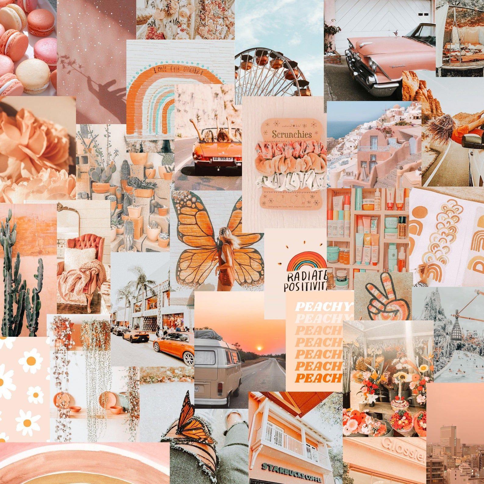 50pc peachy photo collage kit