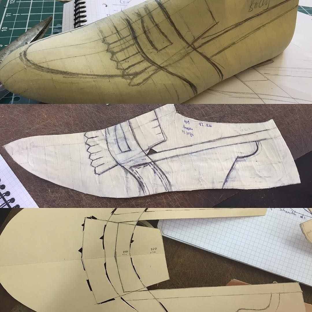 A micro-view of step-by-step slip-on shoe-making with kiltie