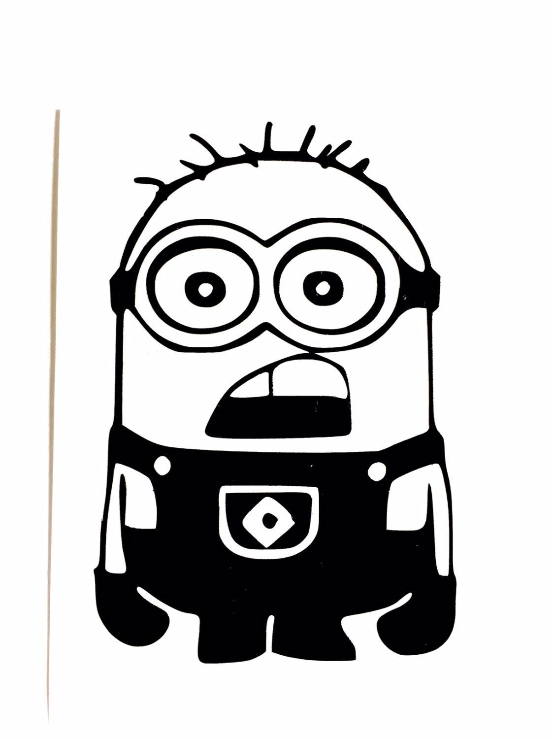 Diy minion vinyl decal despicable me decal cartoon decal minion jerry car window decal laptop decal tablet decal drinkware decal by vinylmeethis on