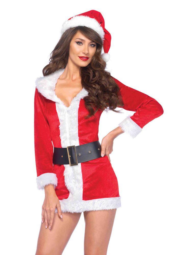 Halloween costumes · New Leg Avenue 85528 3PC.Secret Santa,velvet dress  Female Adult Costume #LegAvenue